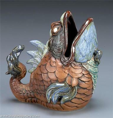 Burslem Pottery Grotesque Spoonwarmer Fish Inspired By Martin Brothers