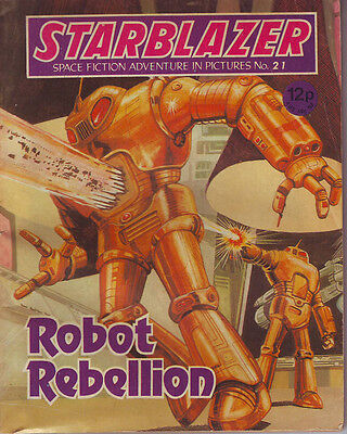 Starblazer  No 21  Robot Rebellion  Space Fiction Adventure In Pictures 1980