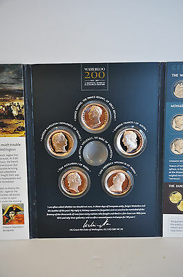 Waterloo Campaign Medals -  Five Bronze Proof Medals Limited Edition  + Folder
