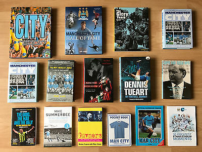 15 x MANCHESTER CITY BOOKS – COLLECTION includes 5 signed copies