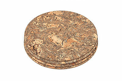 Certified Cork Round Placemats Table Mats Dining Iceberg Pattern - Pack of 4