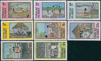 Tokelau 1976 SG49-56 Local Life set MNH