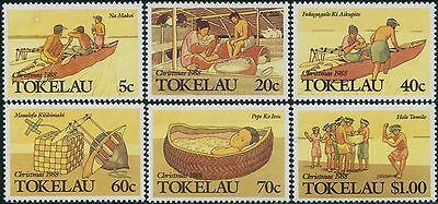 Tokelau 1988 SG165-170 Christmas set MNH