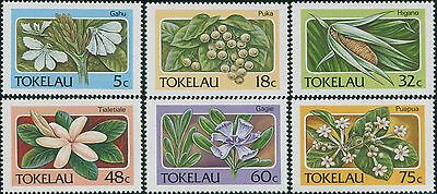 Tokelau 1987 SG142-147 Flowers set MNH