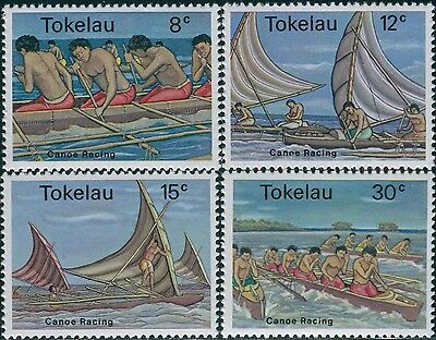 Tokelau 1978 SG65-68 Canoe Racing set MNH
