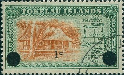 Tokelau 1967 SG9 1c on 1d Nukunono FU