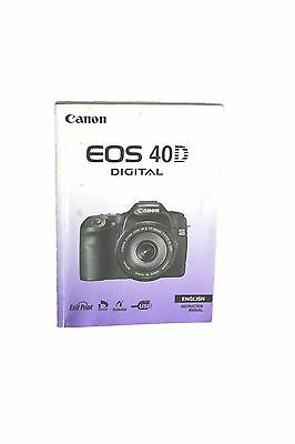 Canon EOS 40D Digital Instruction Manual English Genuine Loose Middle Pages