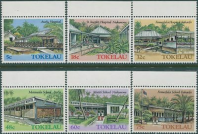 Tokelau 1986 SG130-135 Architecture part 2 set MNH