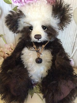REDUCED Charlie bears mohair bear Original Chocolate Muffin rare retired!