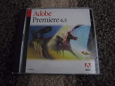 NEW Adobe Premiere 6.5 Windows PC Software Video Editing with Serial Number