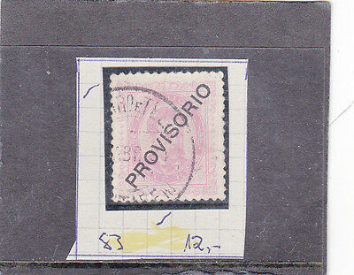 """PORTUGAL D. LUIS I 20 REIS SURCHARGED """"PROVISORIO"""" (1892-93)   Used"""