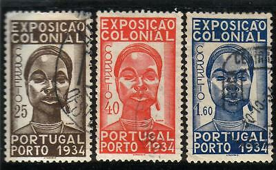 PORTUGAL FIRST COLONIAL EXPOSITION SET (1934)  Used C. V 26,00 Euros
