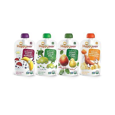Happy Baby Organic Stage 2 Baby Food Simple Combos Variety Pack 4 Ounce (Pack...