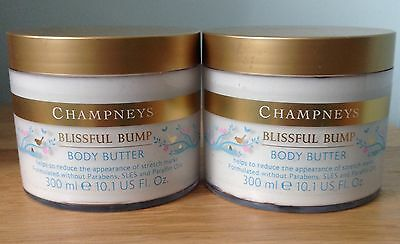 Champneys Blissful Bump Body Butter x2 Large 300ml - Pregnancy Stretch Marks