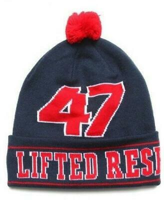 9065cf5d8b4 Lifted Research Group LRG Knit Pom Pom Winter Hat Beanie Toque Navy Blue