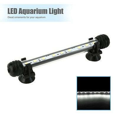 Aquarium Fish Tank LED Lights Bar Lamp Submersible White Light Waterproof 19cm