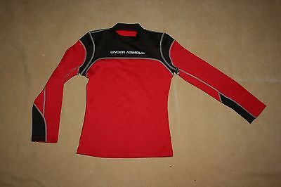 Under Armour Fitted Cold Gear Athletic Long Sleeve Base Layer Shirt Youth Large