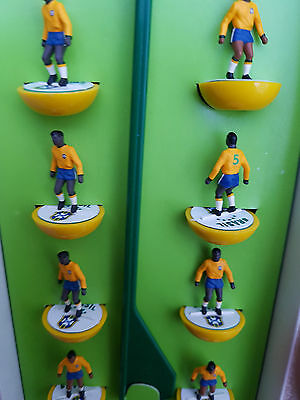 Subbuteo BRAZIL team on Top Spin Bases - amazing detail