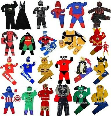 NEW Super hero children's costume for party dress up 1-10 yrs