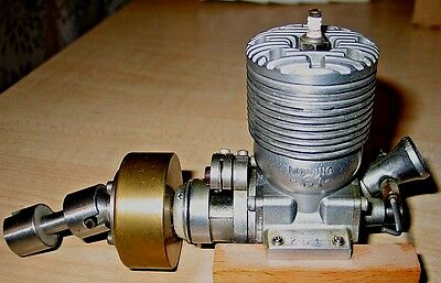 "DOOLING-61 10 fin,w/ ""F"" car flywhl & drive ,tether car  Model Airplane Engine"