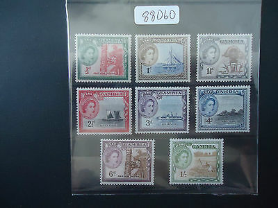Gambia 1953 QE2 (SG 171-178) (8v Part Set) Mounted Mint