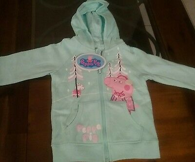 Peppa Pig Girls Hoodie / Sizes 2, 3, 4, 5 and 6.