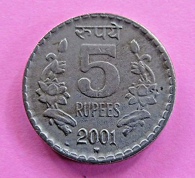 India-republic 5 Rupees, 2001 - FREE DOMESTIC SHIPPING