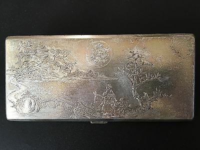 Chinese Sterling Silver Cigarette Case #1