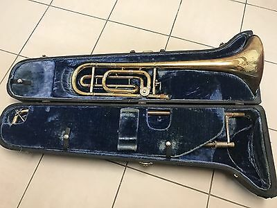 Vintage/rare Bach Stradivarius Model 42 Trombone And Case