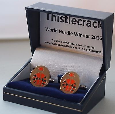Thistlecrack cufflinks - in his racing colours