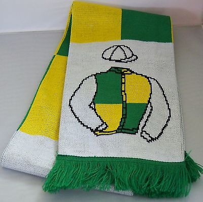 Many Clouds scarf - Trevor Hemmings - in their racing colours