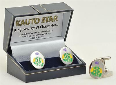 Kauto Star cufflinks - in his racing colours