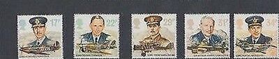 Mint 1986 Gb History Of Raf Royal Air Force Stamp Set Of 5 Muh Stamps