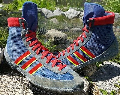 RARE Vintage Adidas West German Combat Speed Wrestling Shoes Size 10-10.5