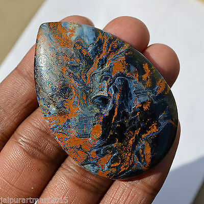 107.5 Cts Natural Chatoyant Namibia Pietersite Loose Cabochon 58x39x7 MM R05625