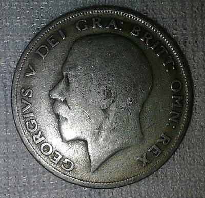 3 x George v half crown  - 1920 - 50% silver.