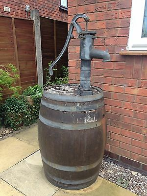 Water Oak Barrel 40 gallon with hand pump and brass tap