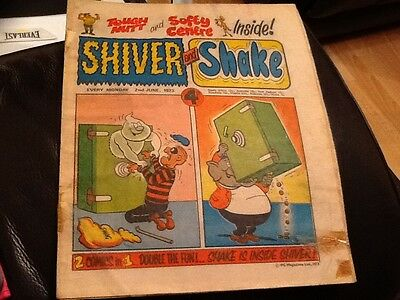 SHIVER AND SHAKE  Paper comic 1973 ISSUE NUMBER 13  Still in good condition