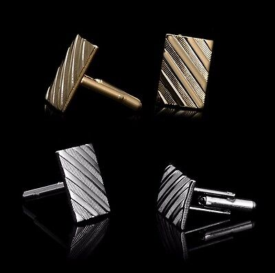 NEW Vintage Silver Gold Men Shirt Cufflinks Wedding Party Cuff Links Gift