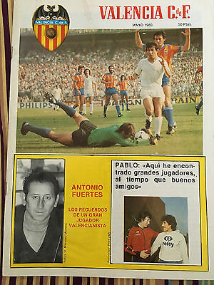 Magazine Official Valencia Arsenal Final Winners Cup 1979 1980 Nantes