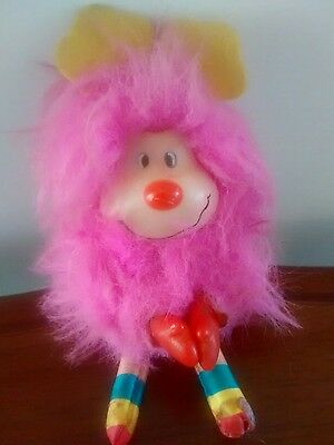 Vintage Rainbow Brite fluffy  Sprite cute and very rare clip on hugger toy 80s
