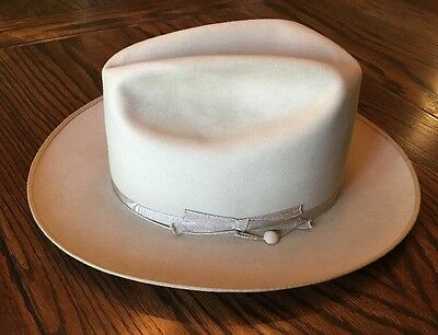Vintage 7X Beaver Stetson Silverbelly Open Road