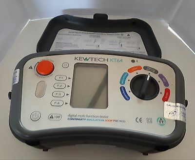 Kewtech KT64 Multifunction Tester with anti trip technology