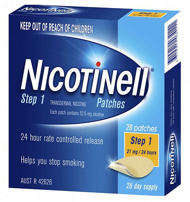 Nicotinell Patches Step 1 21mg 28 day supply New Smoking deterrent going cheap