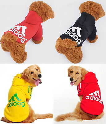 Puppy Small Large Pet Dog Winter Clothes Coat Costume Jacket Vest Hoodie Sweater
