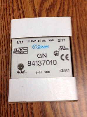 CROUZET SSR 84137010 Solid-State Panel-Mount Relay, 25 Amp, 24 - 280 VAC