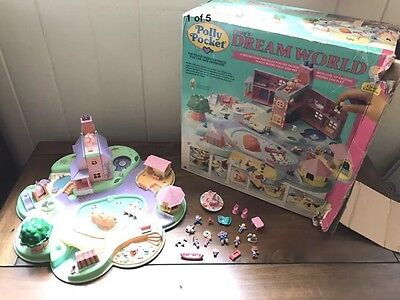 Vintage Polly Pocket Dream World Playset With Figures, Box And Accessories