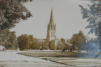 Horses On The Church Green Witney Oxfordshire Early Rp Pc