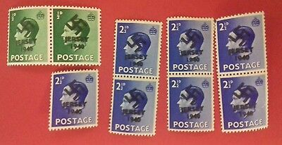 Jersey 1940 Occupation Cancellation stamps (AC146) ORO.