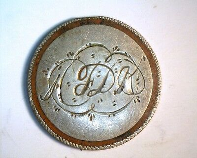 """Love Token """"A FDK"""" on a 1859 Indian Cent (Type Coin)"""